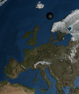 Final black hole size, with Europe for comparison.