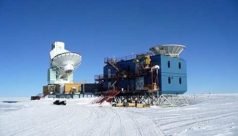 The BICEP2 Observatory in the Antarctic.