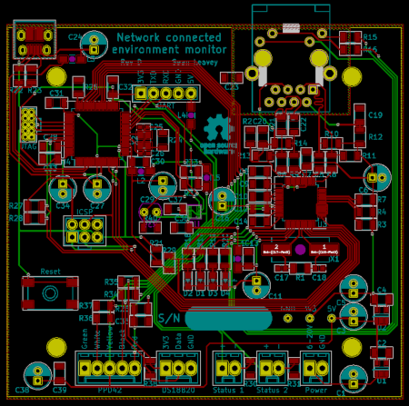 Environment sensor PCB.
