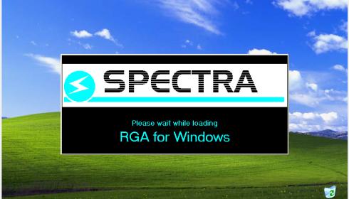 Spectra RGA For Windows software.