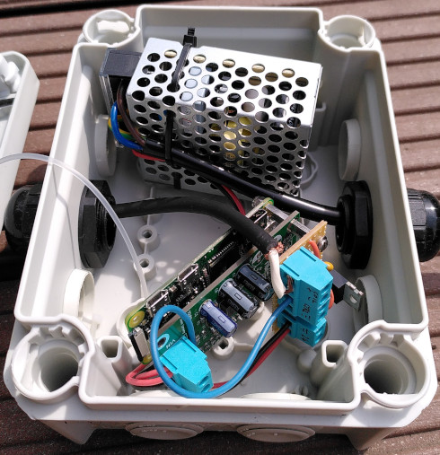 Watering system power box
